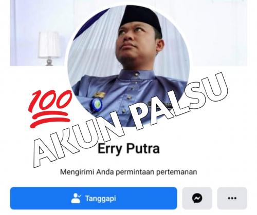 Cabup Hery Saputra Kaget Ada Akun Facebook Palsu Catut Namanya dan Minta Sejumlah Uang