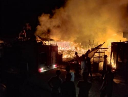 Kedai Grosir di Bangko Terbakar, Tak Ada Barang yang Bisa Diselamatkan