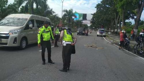 Ditabrak Pajero Sport, Wanita Pengendara Sepeda Tewas di Jalan Jenderal Sudirman Pekanbaru