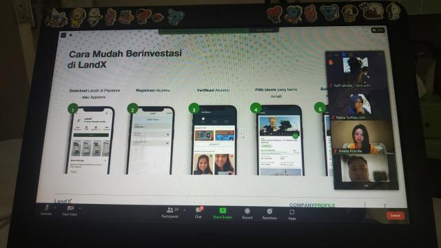 LandX Kenalkan Model Patungan Bisnis Lewat Aplikasi kepada Anak Muda di ISCFF 2021 Riau