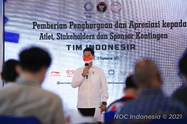 NOC Berikan Apresiasi Sponsor Kontingen Indonesia