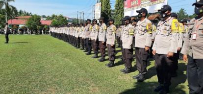 Polres Kampar Laksanakan Apel Akbar Bhabinkamtibmas