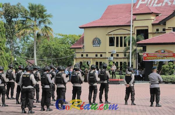 Kapolda Riau Pimpin Apel Patroli Berskala Besar di Polres Rohil, Jamin Keamanan Obyek Vital Nasional