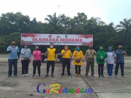 Wagubri Apresiasi Kegiatan TNI-Polri di Riau yang Lakukan Olahraga Bersama untuk Tingkatkan Imunitas dan Pererat Silaturahmi