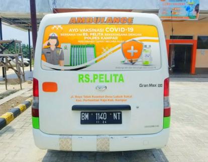 Percepat Vaksinasi di Daerah Terpencil, Polres Kampar Gandeng Rumah Sakit Swasta Datangi Masyarakat