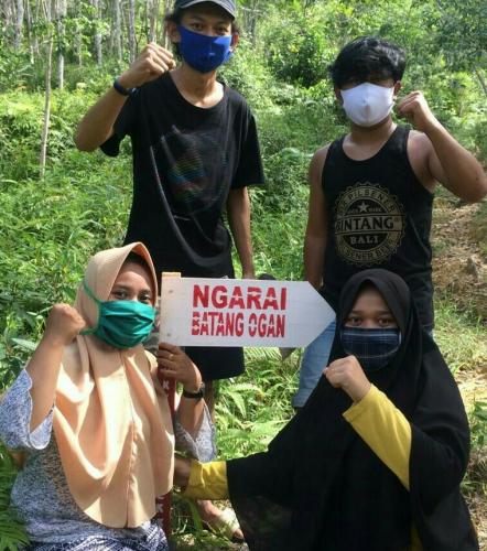 Peduli Pariwisata Kuansing, Mahasiswa Unri Bikin Rambu-rambu Menuju Objek Wisata