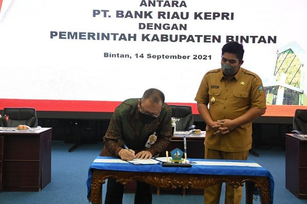 Plt Bupati Bintan Roby Kurniawan Apresiasi Kerjasama Layanan Perbankan Bank Riau Kepri