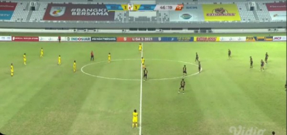 Babak Pertama, Tiga Naga vs Babel United Sama Kuat 1-1