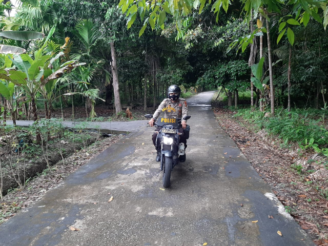 Cegah Karhutla, Personel Polsek Tebingtinggi Barat Gelar Patroli dan Sebar Maklumat Kapolda Riau