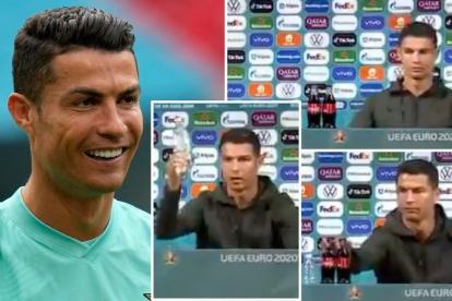 Aksi Geser 2 Botol Minuman Coca Cola Viral, Ronaldo Ngaku Selalu Larang Anaknya Minum Soda