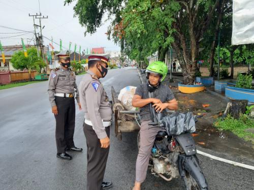 Cegah Kemacetan dan Kecelakaan, Satlantas Polres Meranti Gelar Strong Point