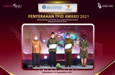 Dua Kota di Riau Terima Penghargaan TPID Award 2021