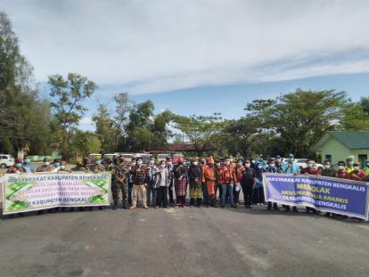 Masyarakat Kabupaten Bengkalis Tolak Aksi Unjuk Rasa Anarkis