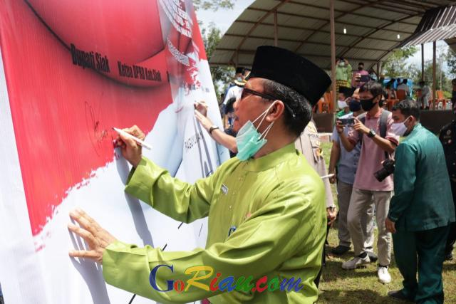 Cegah Anarkisme, Arfan Usman Pimpin Deklarasi Cinta Damai di Siak