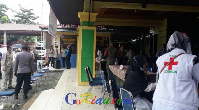 Tim Gabungan Satgas Covid-19 Pelalawan Kembali Gelar Razia Masker, 17 Orang Terjaring