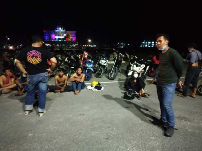 Polresta Amankan 200 Motor Saat Razia Balap Liar di Kantor Walikota Pekanbaru