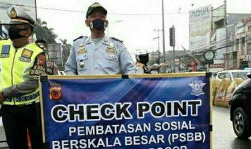 Ini Titik Check Point PSBB di Pelalawan Riau