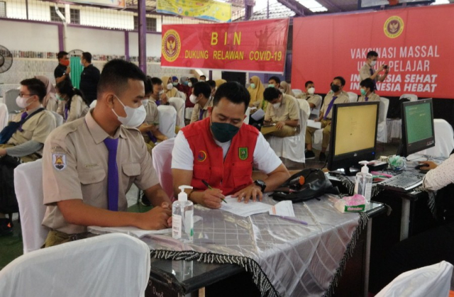 Dapat Respons Positif, BIN Daerah Riau Lanjutkan Vaksinasi Massal di Tiga Daerah