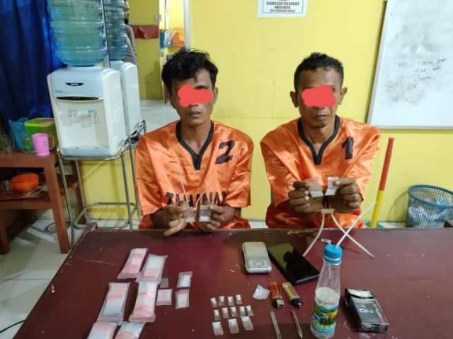 Edarkan Sabu, Dua Warga Kuansing Ditangkap Polisi, Satunya DPO