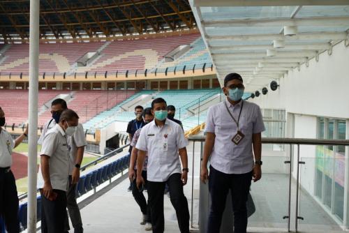 Kunker ke Riau, Setkab RI Tinjau Venue Eks PON XVIII Riau