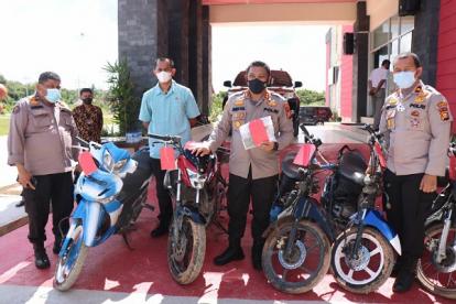 Polres Meranti Amankan 5 Unit Sepeda Motor, Pemilik Diminta Lengkapi Syarat Ini untuk Mengambilnya