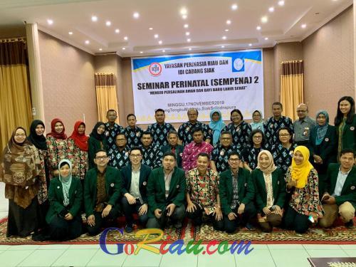 Yayasan Perinasia Riau dan IDI Kabupaten Siak Taja Seminar Perinatal untuk Dokter, Bidan dan Perawat