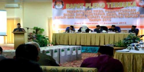 Hasil Rapat Pleno KPU Rohul, Susuki Ungguli Hafith-Nasrul di 10 Kecamatan