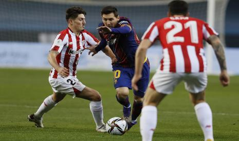 Barcelona Keok, Atletico Bilbao Boyong Piala Super Spanyol, Messi Diusir Wasit