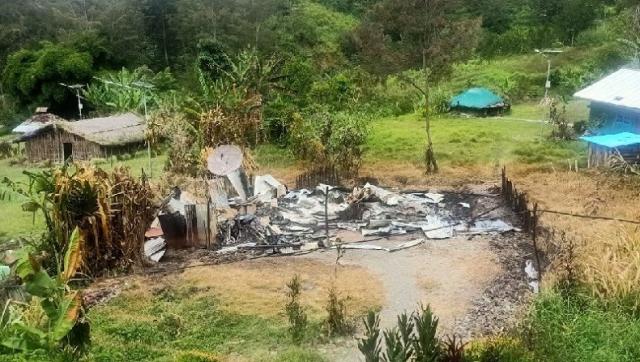 Teror KKB Berlanjut, Bakar Rumah Kepala Suku dan Guru Serta Gedung SD