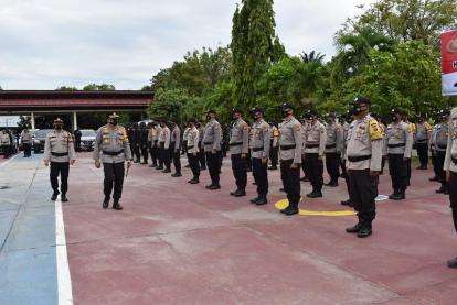 Amankan Pelaksanaan PSU di Inhu dan Rohul, Polda Riau Kerahkan 764 Personil