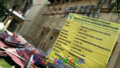 Dewan Minta Dinas PUPR Pelalawan Desak Kontraktor Proyek Rehab Gedung DPRD Gesa Pengerjaan