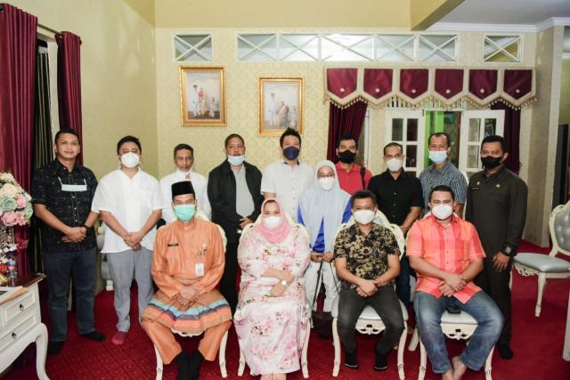 Maju Pemilihan Ketum HIPMI Riau, Erwin Edison Silaturrahmi dengan Bupati Bengkalis