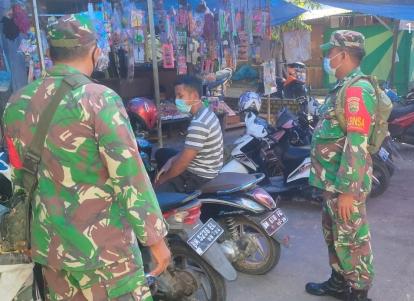 Anggota TNI di Koramil 04/Mandau Ini Aktif Sosialisasikan Penerapan Prokes