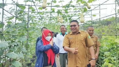 Kunjungi Agro Wisata di Kepulauan Meranti, Intsiawati Ayus Serahkan Bantuan Bibit Bawang Merah