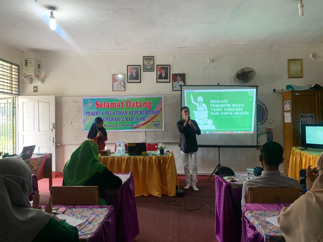 Rumah Kreatif Siak, Berikan Pelatihan Kepemimpinan untuk Gen Z Kabupaten Siak