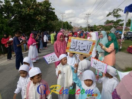 Goriau Sambut Tahun Baru Islam Ratusan Anak Paud Di Siak Pawai Taaruf