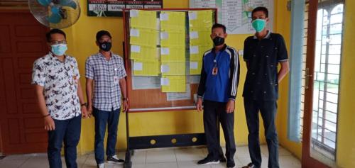 PPS Desa Banglas Tempelkan DPS di Kantor Desa dan Tempat Strategis