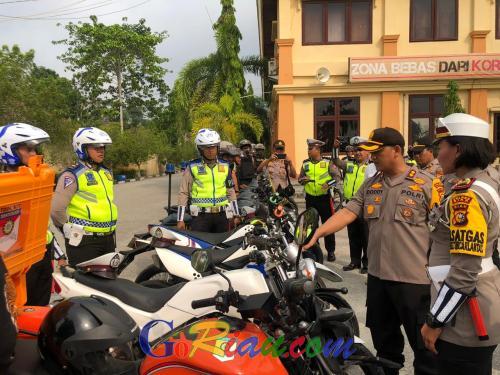 Jelang Pelantikan Presiden RI, Seluruh Personil Polres Siak Disiagakan