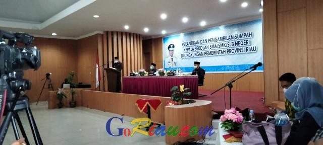 Gubernur Riau akan Cek Kedisiplinan Sekolah Terapkan Protokol Kesehatan