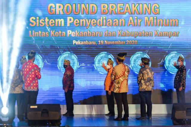 Gubernur Riau Groundbreaking SPAM Regional Lintas Kota Pekanbaru dan Kabupaten Kampar