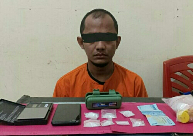 Pengembangan Kasus di Pelalawan, Polisi Tangkap Satu Lagi Bandar di Inhu, Barang Bukti Sabu 20,61 Gram