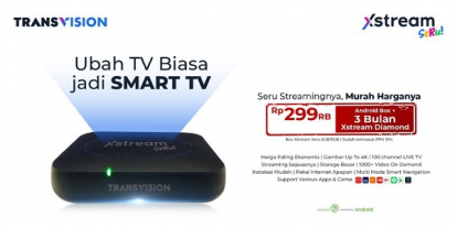 Transvision Xstream Seru, Ubah TV Biasa ke Smart TV