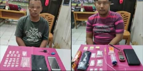 Resnarkoba Polres Kampar Amankan Dua Pemilik Puluhan Paket Sabu