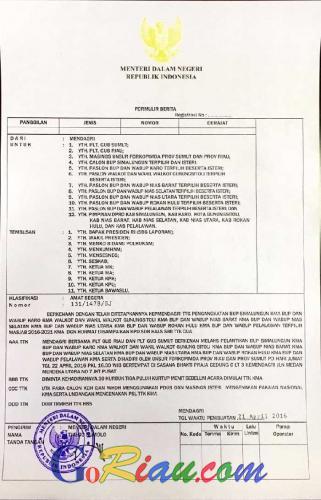 Surat Resmi Mendagri Diterbitkan, Doni Aprialdi: Besok Suparman Dilantik di Jakarta