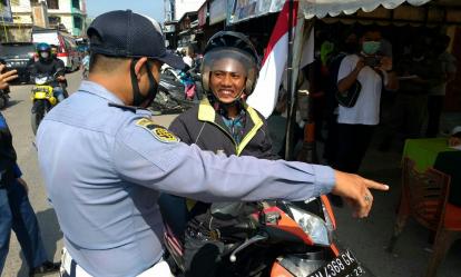 22 Pelanggar Prokes di Tembilahan Inhil Ditindak Petugas