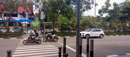 Sudah Lama Pelican Crossing di Depan MPP Jalan Sudirman Tak Berfungsi