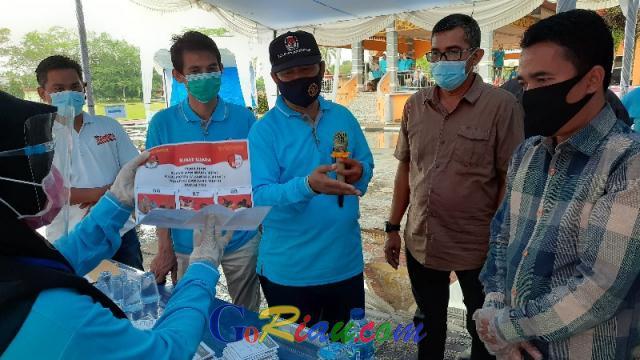 KPU Kuansing Gelar Simulasi Pemungutan Suara di Tengah Pandemi Covid-19