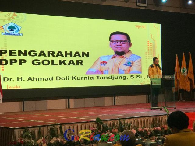 Di Riau, Ahmad Doli Blak-blakan Tentang Rencana Pencalonan Airlangga Hartarto di Pilpres 2024