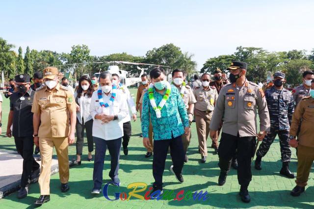 Amankan Kunjungan Wakil Menteri ATR/BPN, Polres Kepulauan Meranti Kerahkan 51 Personel