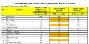 Bertambah 253 Kasus, Riau Kembali Masuk 4 Besar Penyumbang Covid-19 di Indonesia